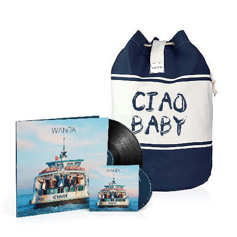 √Ciao! (Vinyl inkl. CD + Seesack - limitierte Auflage) von Wanda - LP Bundle jetzt im Wanda Shop