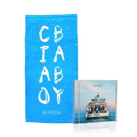 √Ciao! (CD + Duschtuch - limitierte Auflage) von Wanda - CD Bundle jetzt im Wanda Shop
