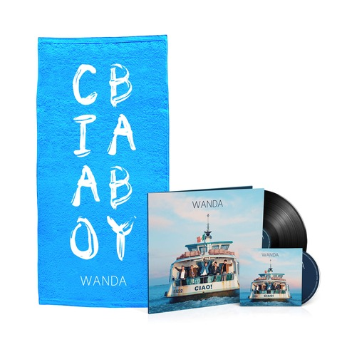 √Ciao! (Vinyl inkl. CD + Duschtuch - limitierte Auflage) von Wanda - LP Bundle jetzt im Wanda Shop